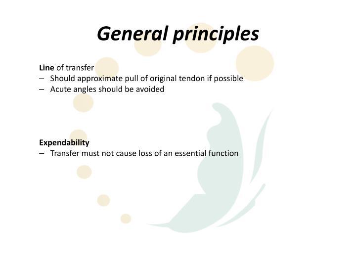 General principles
