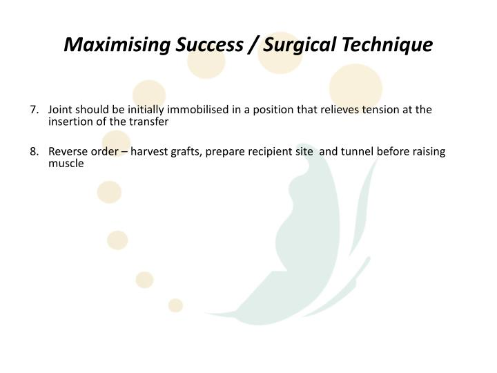 Maximising Success / Surgical Technique