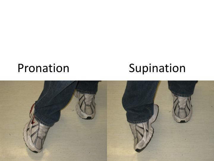 Pronation                    Supination