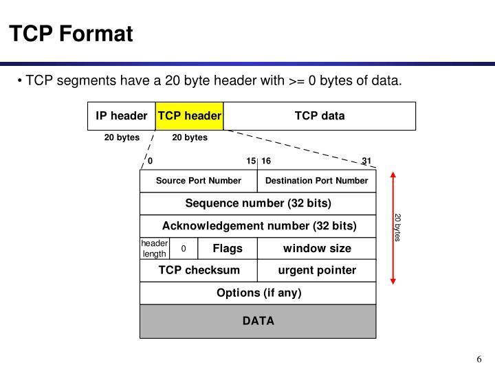 TCP Format