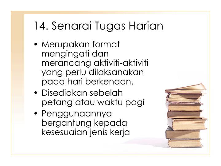 14. Senarai Tugas Harian