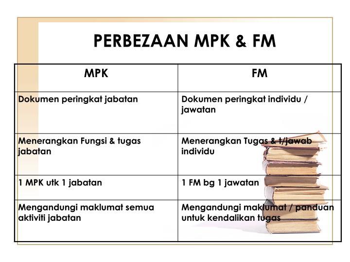 PERBEZAAN MPK & FM