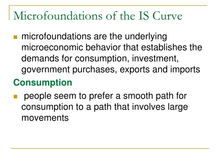 Microfoundations of the IS Curve