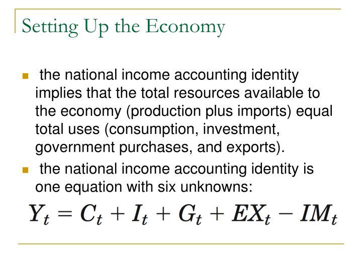 Setting Up the Economy