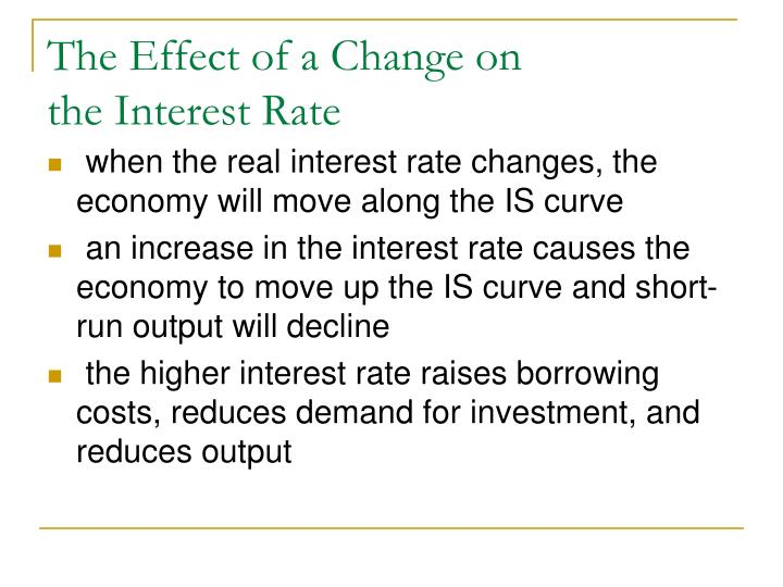 The Effect of a Change on