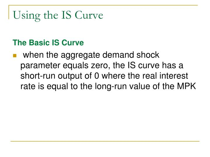 Using the IS Curve