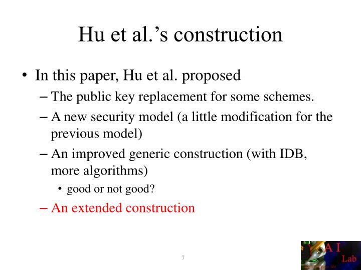 Hu et al.'s construction
