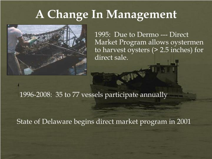 1996-2008:  35 to 77 vessels participate annually