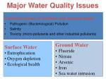 major water quality issues