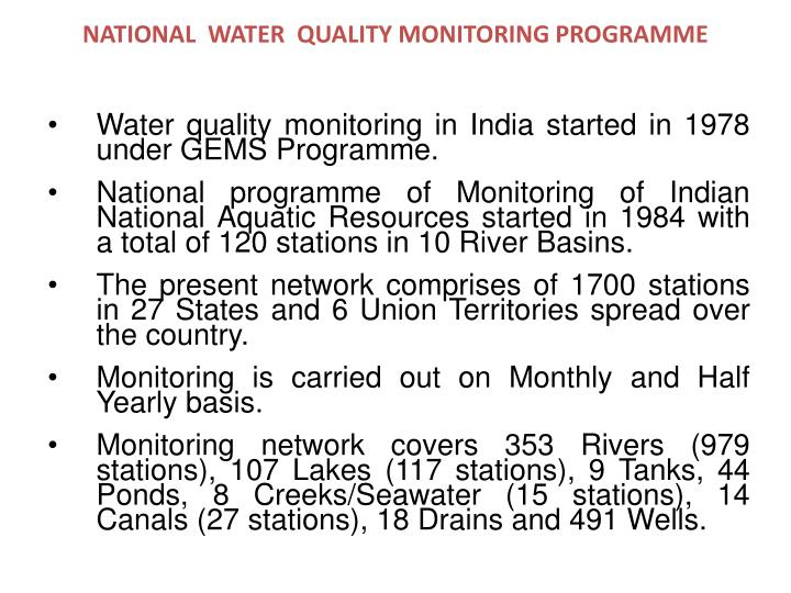 National water quality monitoring programme