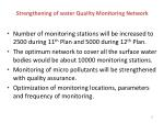 strengthening of water quality monitoring network