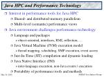 java hpc and performance technology