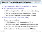 message communications performance