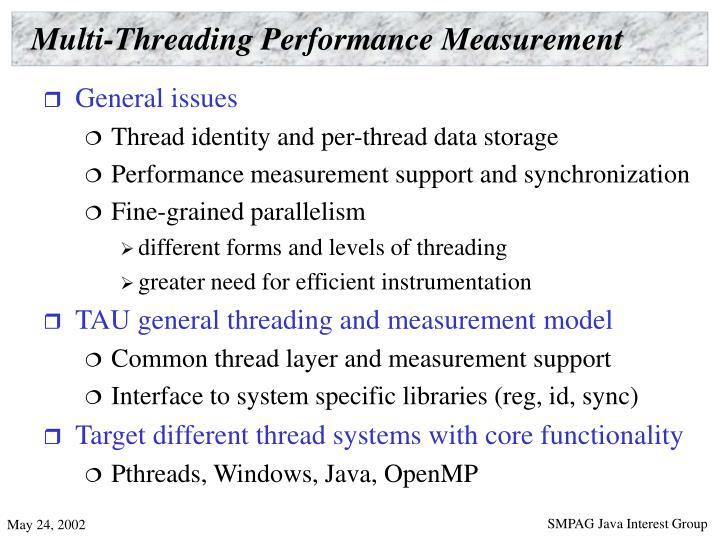 Multi-Threading Performance Measurement