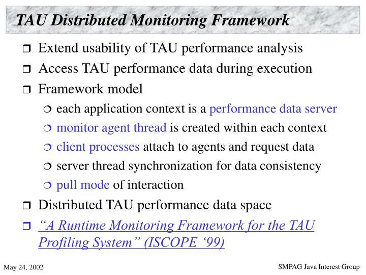 TAU Distributed Monitoring Framework