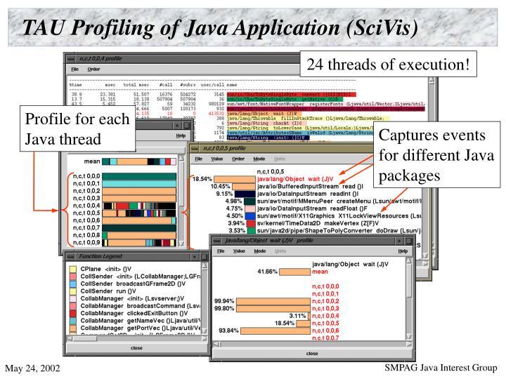 TAU Profiling of Java Application (SciVis)