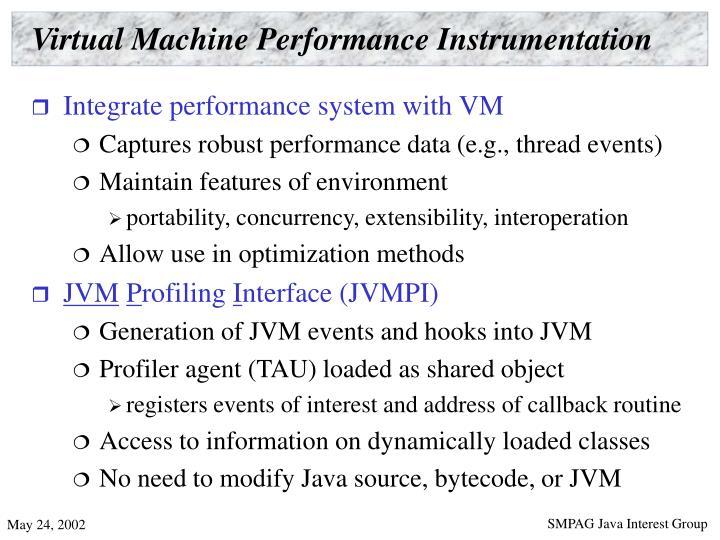 Virtual Machine Performance Instrumentation