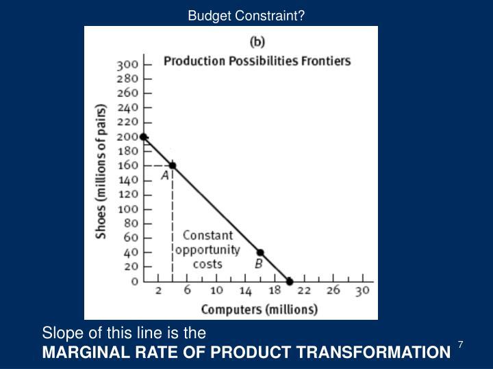 Budget Constraint?