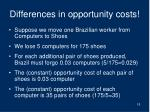 differences in opportunity costs1