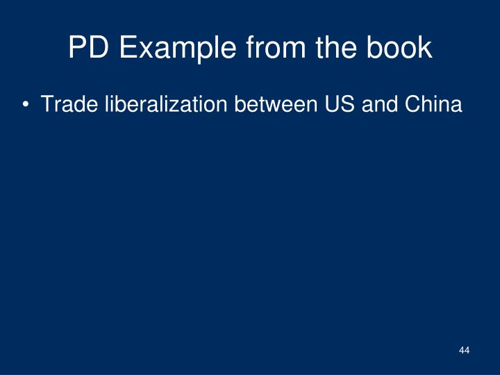 PD Example from the book