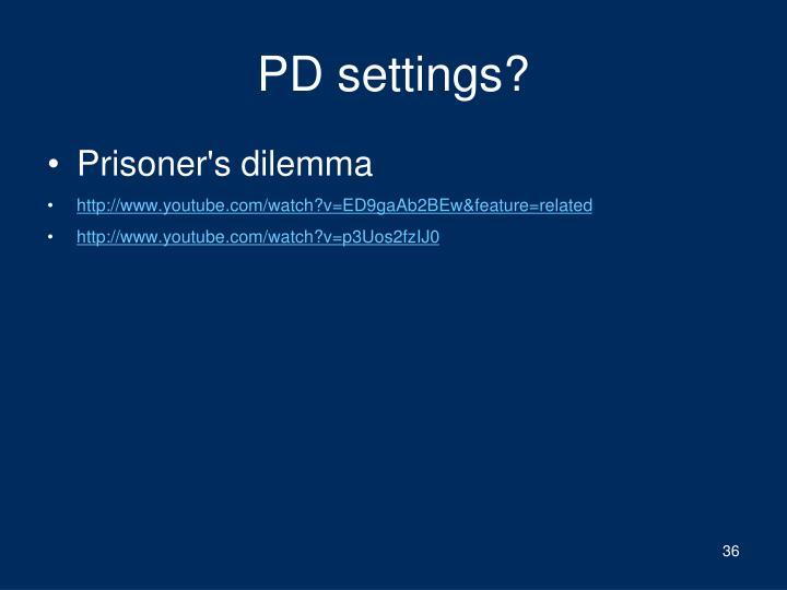 PD settings?