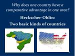 why does one country have a comparative advantage in one area