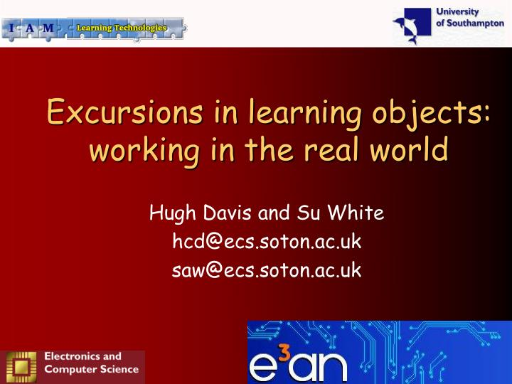 Excursions in learning objects working in the real world