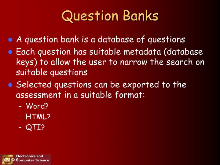 Question Banks