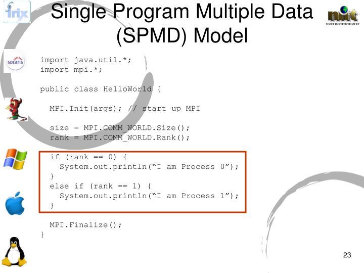 Single Program Multiple Data (SPMD) Model