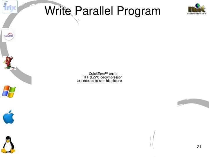 Write Parallel Program