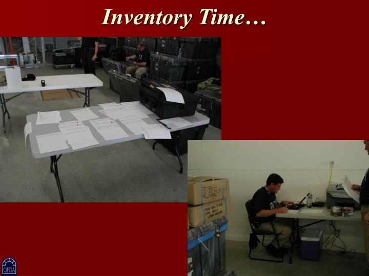 Inventory Time…