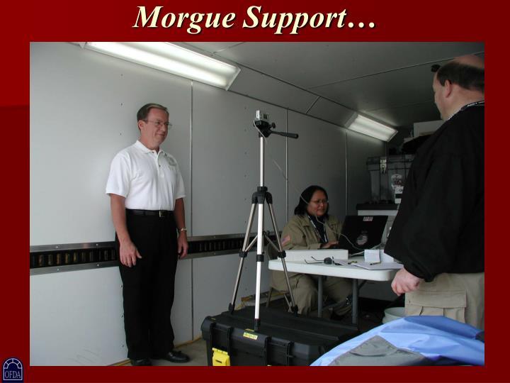 Morgue Support…