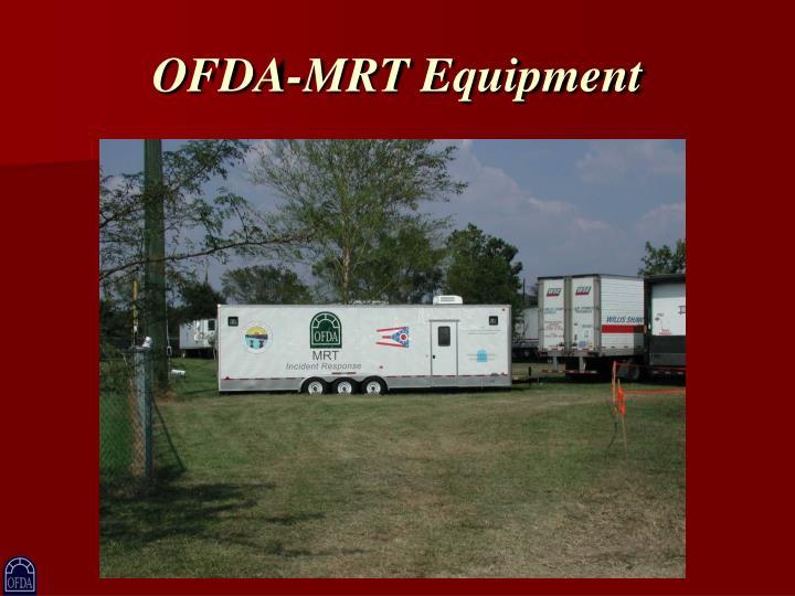 OFDA-MRT Equipment
