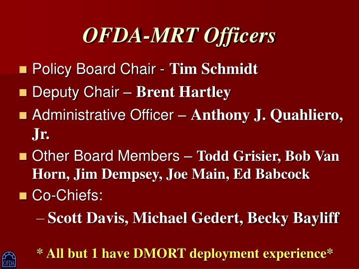 OFDA-MRT Officers