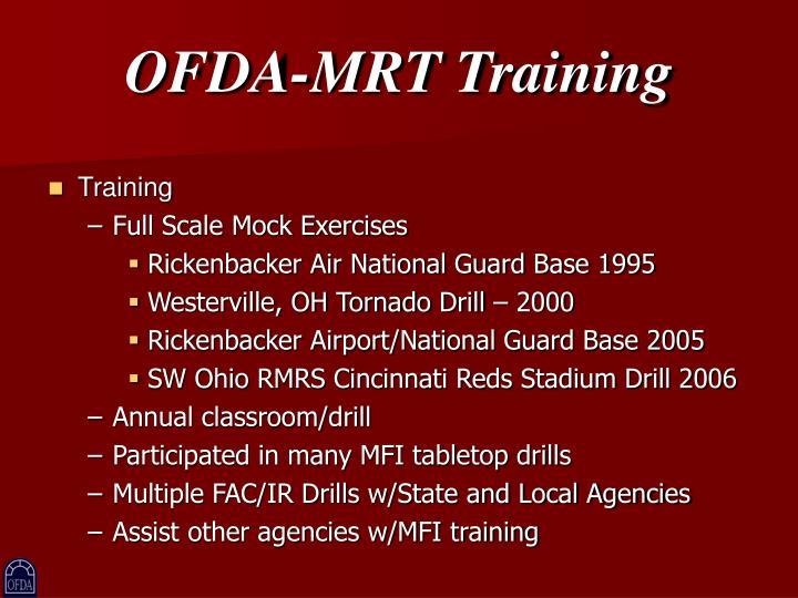 OFDA-MRT Training