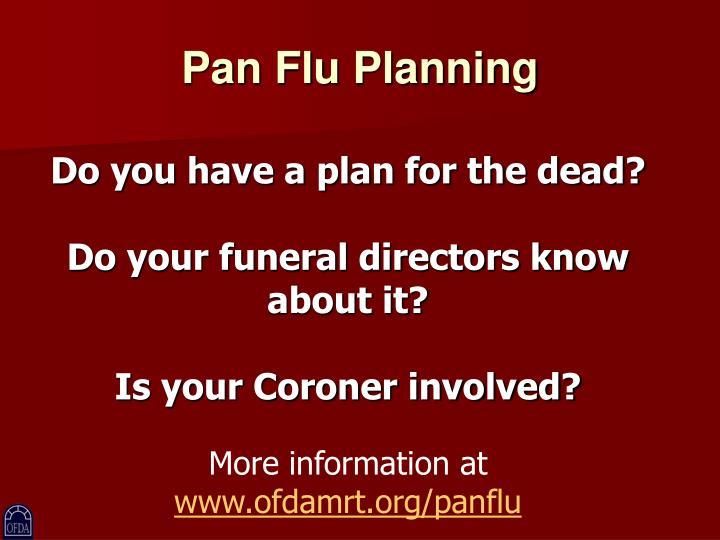 Pan Flu Planning