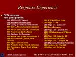 response experience