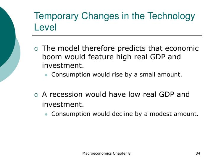 Temporary Changes in the Technology Level