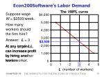econ200software s labor demand
