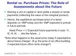 rental vs purchase prices the role of assessments about the future