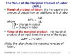 the value of the marginal product of labor mpl
