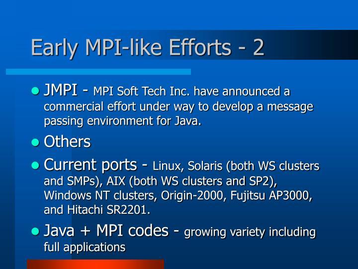 Early MPI-like Efforts - 2