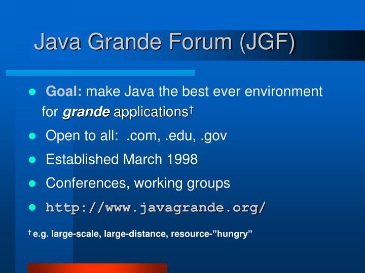 Java Grande Forum (JGF)