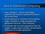 java in distributed computing