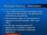 message passing motivation