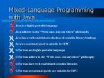 mixed language programming with java
