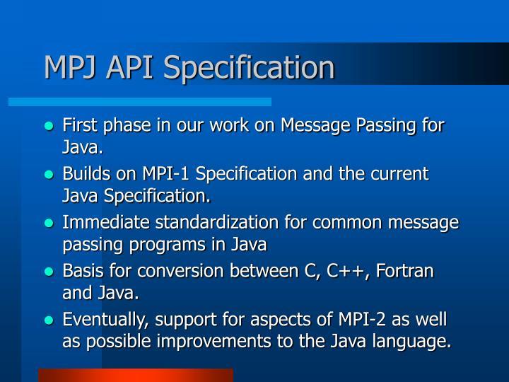 MPJ API Specification