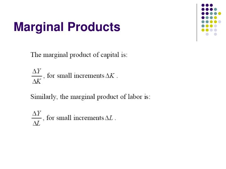 Marginal Products