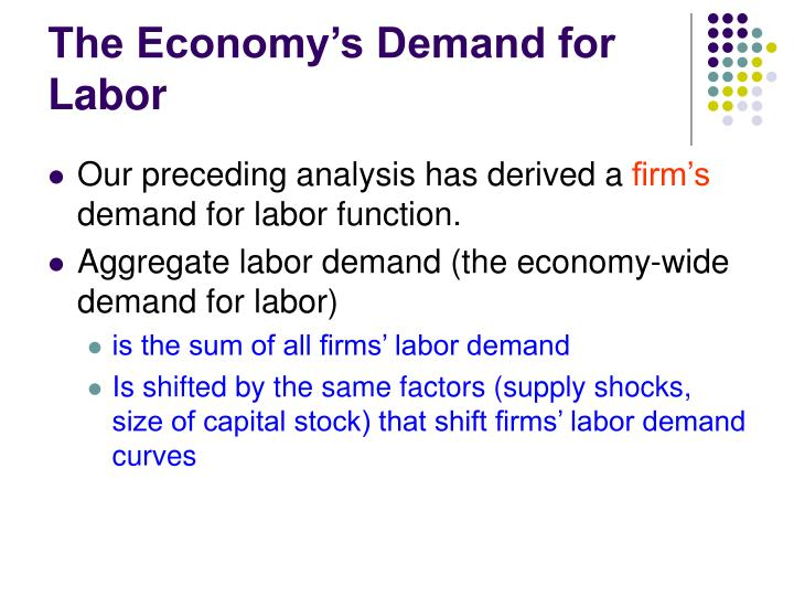 The Economy's Demand for Labor
