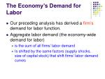 the economy s demand for labor